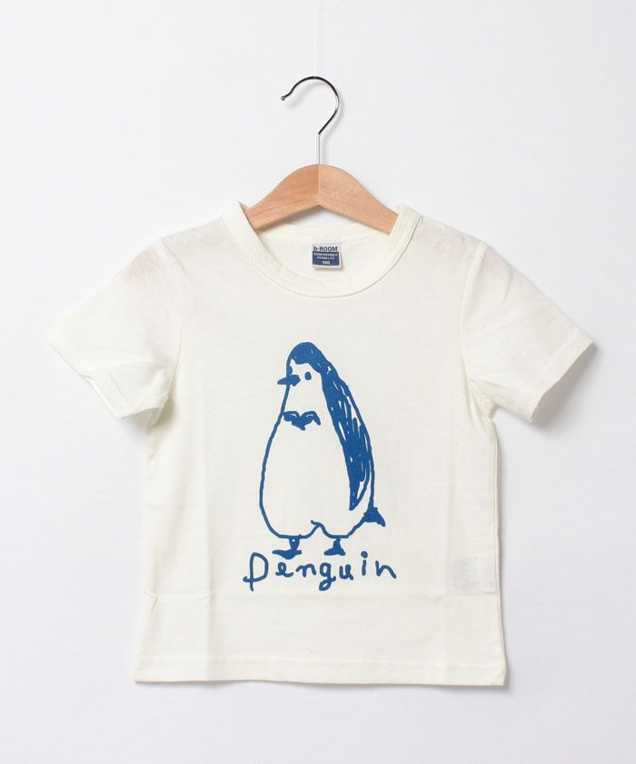 ビールーム/手描き風ペンギン半T