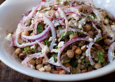 Lentil, Chickpea & Feta Salad