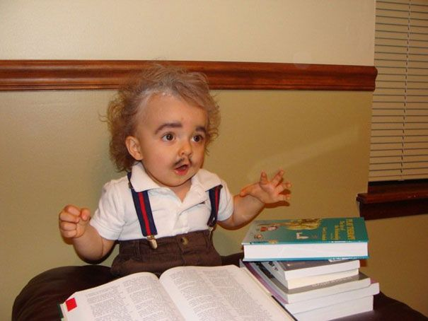 """26 Of The Best Kids' Halloween Costumes Ever   Bored Panda - """"Einstein"""" more of a boys dress up"""