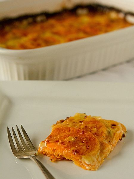 Scalloped Sweet Potato Gratin Recipe With Butternut Squash And Cashew Cream