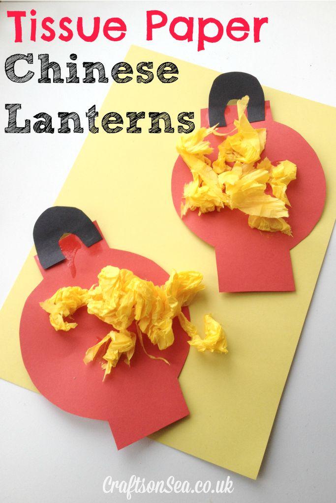 Tissue paper Chinese lantern craft