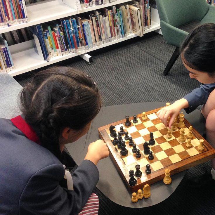 The best study breaks are relaxing and stimulating! #korowareads #korowalibrary #korowaags #korowagirls #library #librarian #schoollibrary #highschoollibrary #teenlibrary #highschool #books #bookish #chess