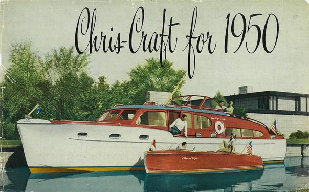 1950 41' Chris Craft DCFB Dual Cabin Fly Bridge ad