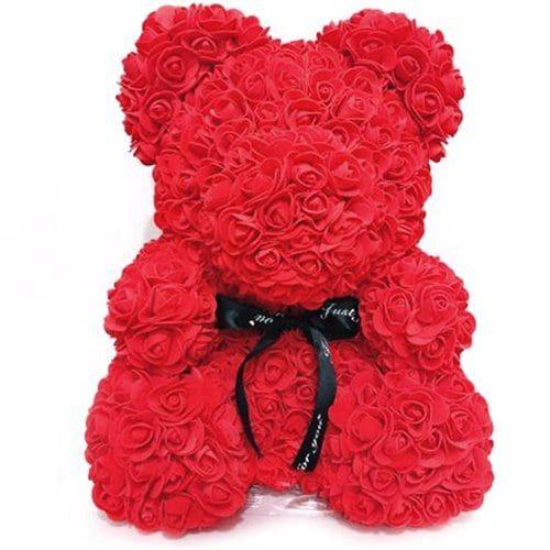 Valentinstag Geschenk künstliche PE Rose Bear Hochzeitsfest Dekoration ewige Blume   – Girls' Jackets Fashion