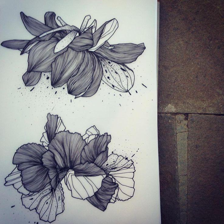 Wild Flowers! Dispo pour être tatoué! Pour réserver >>…