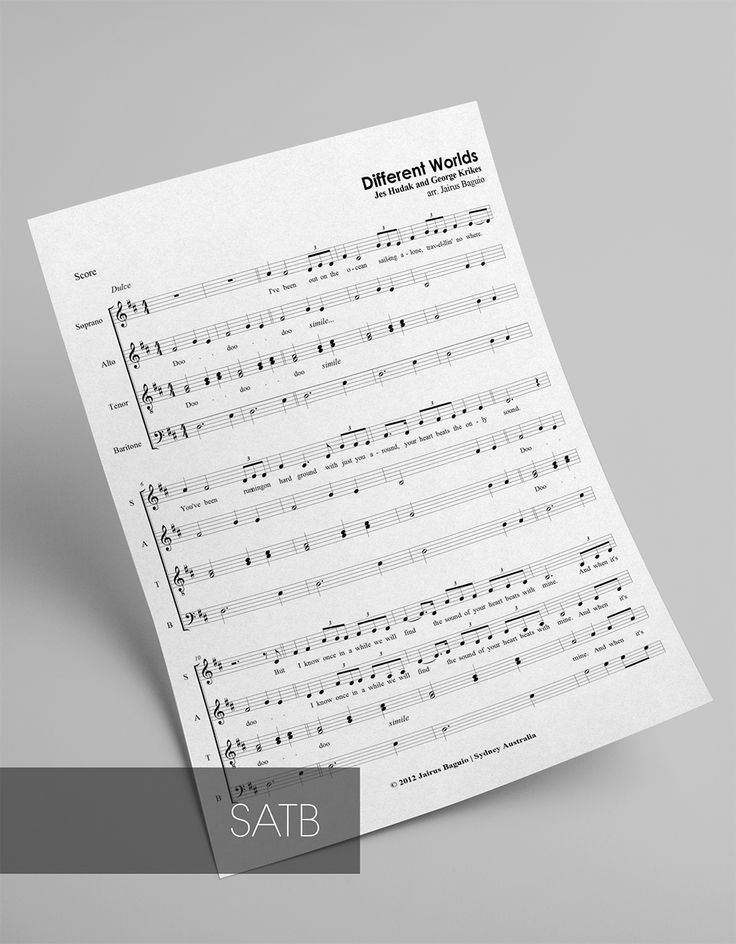 Arranged for SATB A Cappella Mixed Voices  Difficulty: Intermediate - Advanced  Genre: Love Song, Pop Song  Use in: Weddings, Concerts, Competition