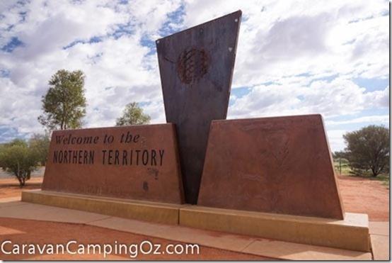 Northern Territory / South Australia Border, Stuart Highway   CaravanCampingOz.com