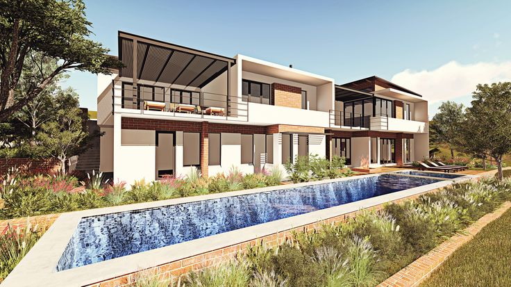 South African Residential Architecture. A new house in Waterkloof Heights