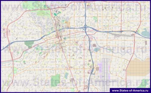 Подробная карта города Рино