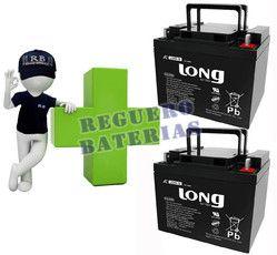 Kit de 2 Baterías GEL 12 Voltios 40 Amperios para Aplicaciones Ciclicas LONG LG40-12
