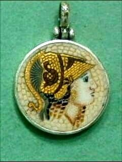 #thelittleshopAthens#micromosaicjewellery#goddessathena#greekmythology#greekgods #etsy #jewelry #necklace #athena #goddess #mosaic #silver #pendant #coin #ceramic http://etsy.me/2B2HWQ0