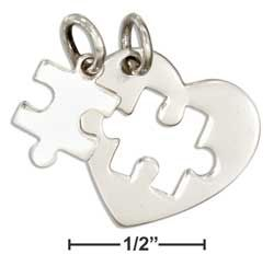 STERLING SILVER TWO PIECE HEART WITH CUTOUT AND PUZZLE PIECE AUTISM CHARM SET via Taylor Made Events For You. Click on the image to see more!
