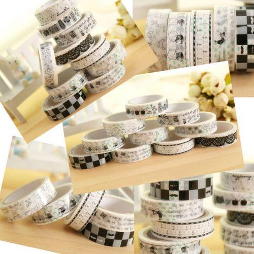 New-Design-1-5cm-10M-DIY-paper-Sticky-Adhesive-Sticker-Decorative-Washi-Tape