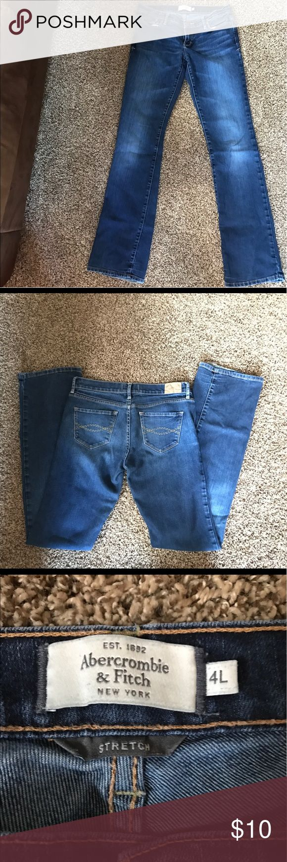 Abercrombie and Fitch Jeans Size 4 long Abercrombie and Fitch Jeans. Stretchy. Excellent condition! Abercrombie & Fitch Jeans Boot Cut