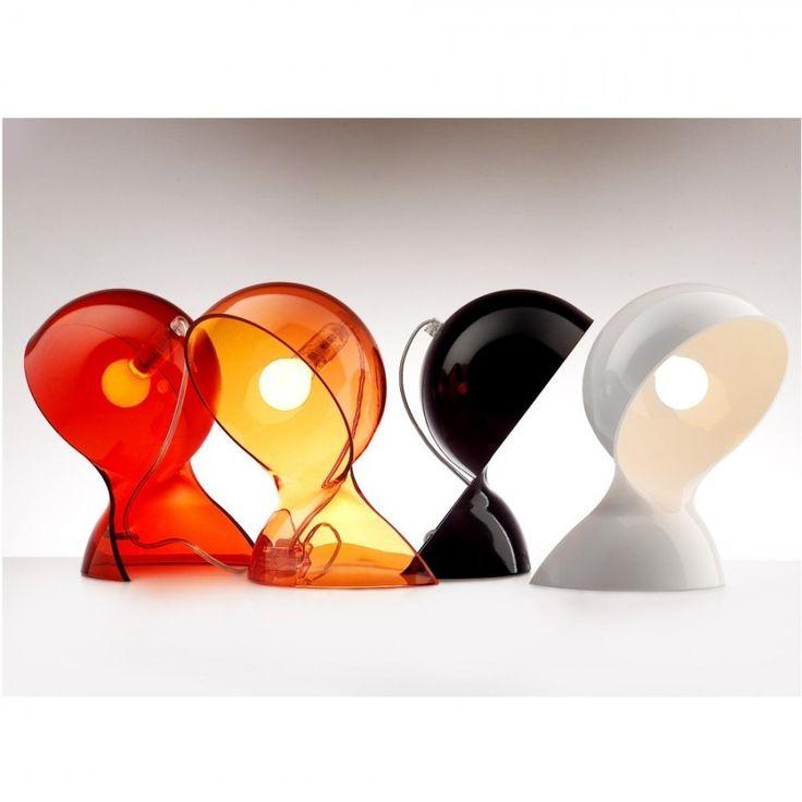 lámparas de mesa DALU De ARTEMIDE, color: negro,naranja y roja