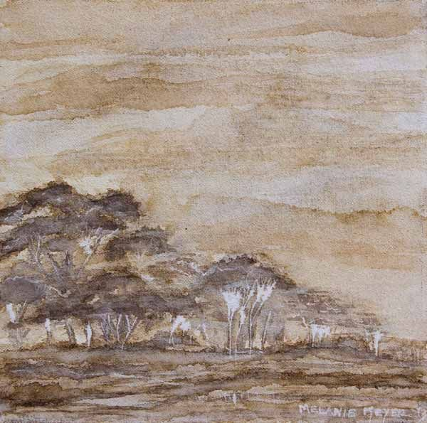 """Bush veld peace filled immensity 02"" by Melanie Meyer sold to a collector"