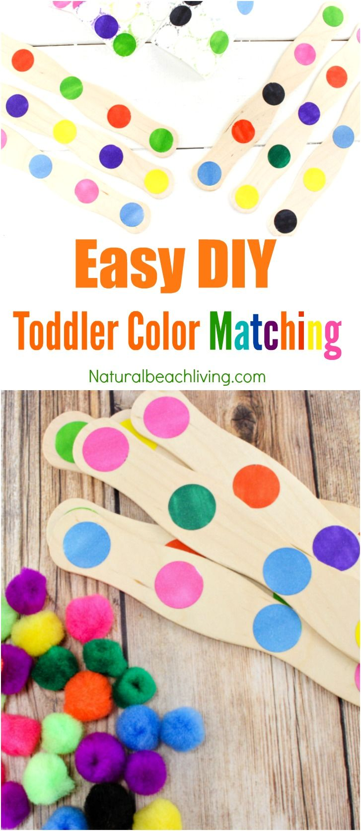 Printable color matching games for preschoolers - Easy Diy Color Activity For Preschool And Toddler Age Children Toddler Color Activities Fine