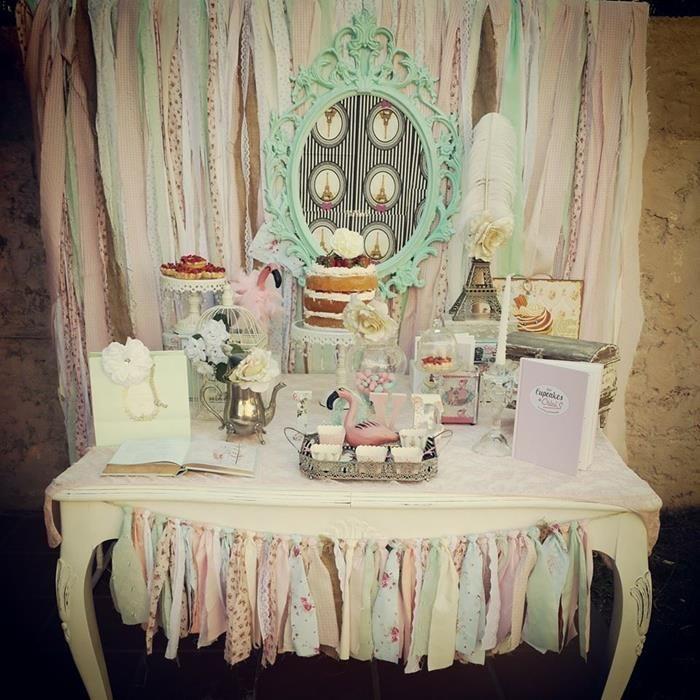 paris Girl Baby Shower Themes | Pastel Paris Party with SUCH CUTE IDEAS via Kara's Party Ideas ...