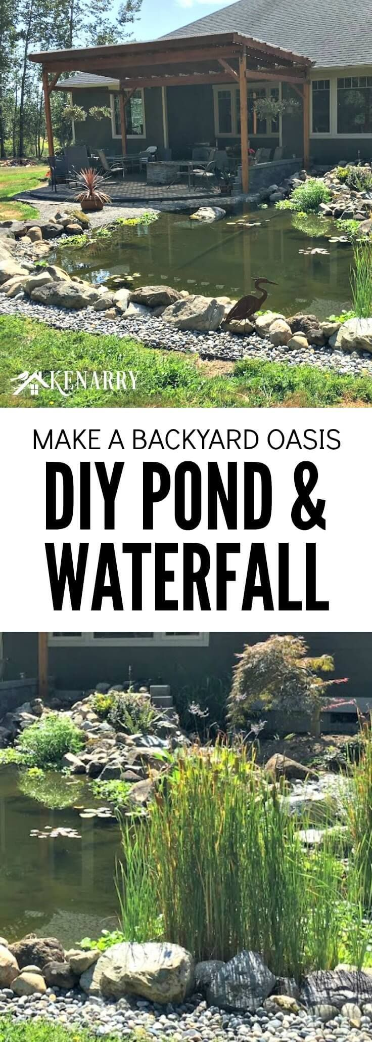 a tutorial to make a homemade waterfall in a pond How to build a backyard pond and waterfall how to build a backyard pond and waterfall building a pond takes time and detailed planning  it is important to make .