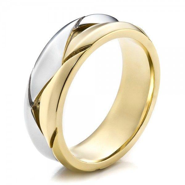 Men's Braided Two-Tone Wedding Band     Joseph Jewelry Seattle Bellevue Custom Jewelry