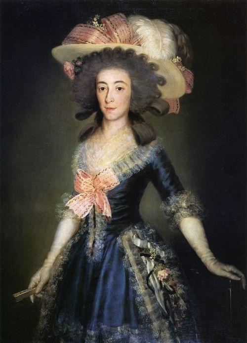 "Francisco de Goya - ""Condesa-Duquesa de Benavente""    1785"
