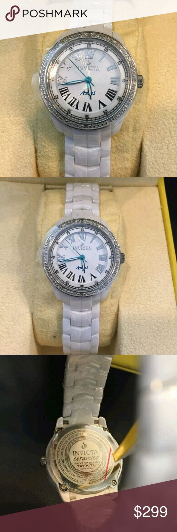 Big sale,$1,400 Invicta Ceramic Diamond watch Big  FIRM PRICE   $1,495 Invicta Ceramics Diamond white watch  FIRM PRICE FIRM PRICE  $395.00 . AUTHENTIC WATCH  . AUTHENTIC BOX  . AUTHENTIC MANUAL    SHIPPING  PLEASE ALLOW 3 BUSINESS DAYS FOR ME TO SHIPPED IT OFF.I HAVE TO GET IT FROM MY STORE.  THANK YOU FOR YOUR UNDERSTANDING. Invicta Accessories Watches