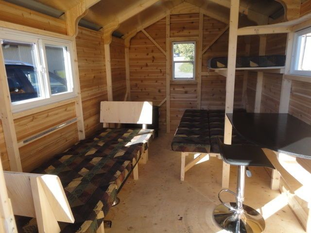 Ice fishing shanty interior images for Ice fish house manufacturers