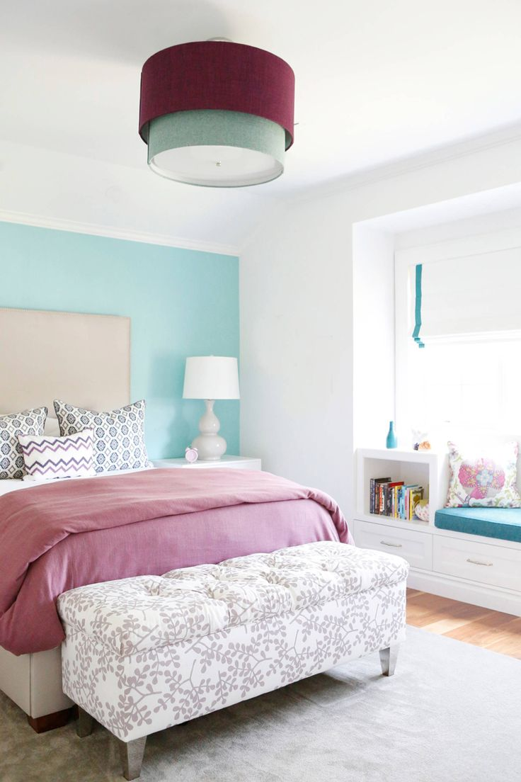 Pictures Of Beautiful Bedrooms Part - 41: Turquoise And Purple Bedroom