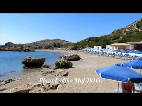 Grecja - Rodos - Plaża Ladiko | Ladiko Beach Rhodes Greece |