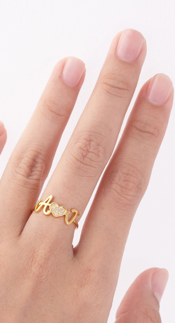Best 25+ Initial rings ideas on Pinterest | Personalized rings ...
