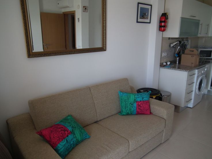 Front room living area Wonderfully large settee which is also a full size double bed