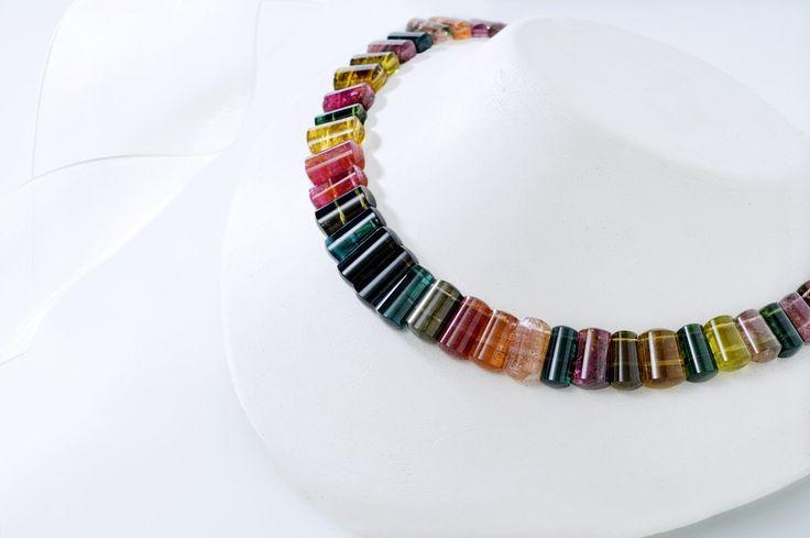 Mixed Colour Tourmaline Necklace.