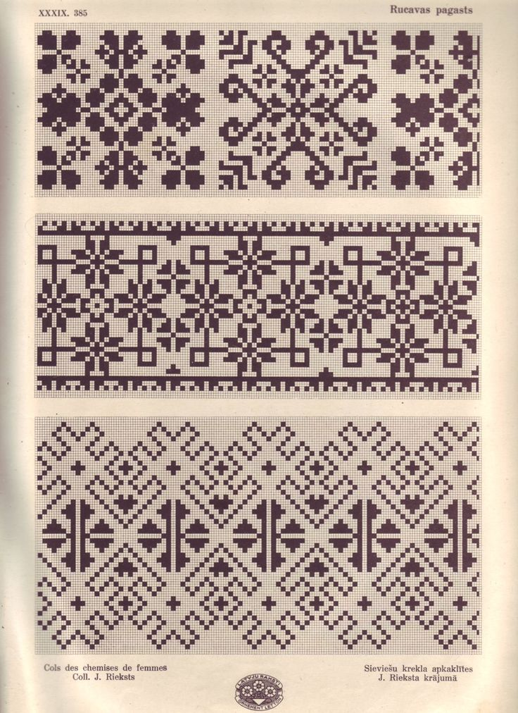 Croatia Knitting Patterns : 611 best images about Colorwork charts: Borders and overall patterns on Pinte...