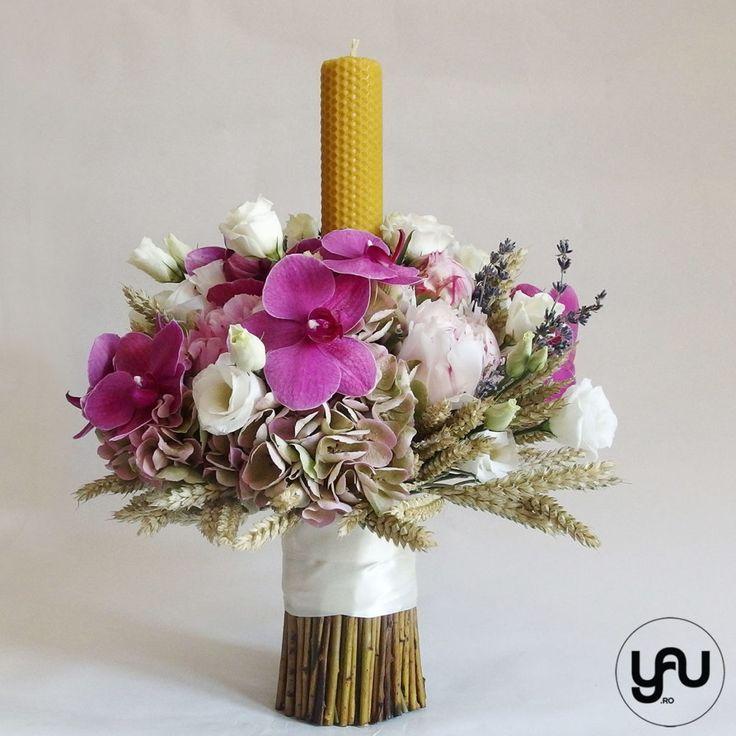 Lumanare de botez cu orhidee grau si bujori _ lumare din ceara naturala _ yau concept _ elena toader (4)