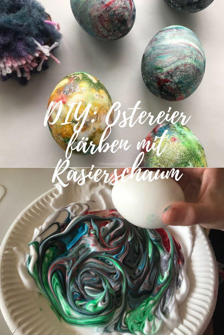 DIY: Ostereier färben mit Rasierschaum