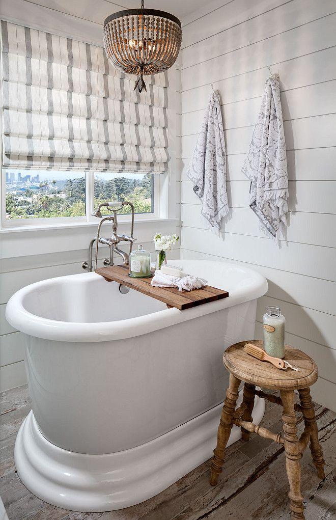 Shiplap Bathroom wall and beaded chandelier. White Shiplap Bathroom wall and beaded chandelier. #Shiplap #Bathroom #wall #beadedchandelier shiplap-bathroom-wall-and-beaded-chandelier Tracy Lynn Studio