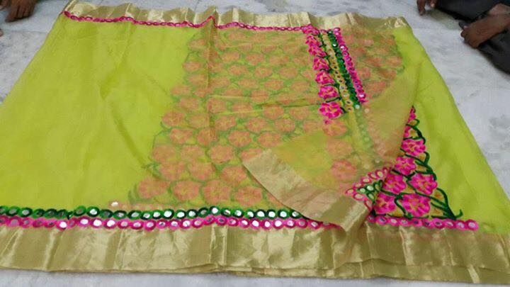 Exclusive Kota Saree With mirror work   Buy Online Sarees   Elegant Fashion Wear
