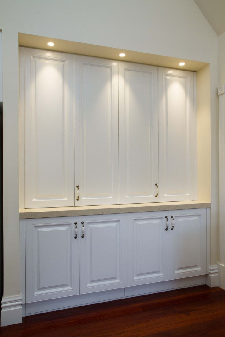 Traditional style. Appliance pantry. www.thekitchendesigncentre.com.au