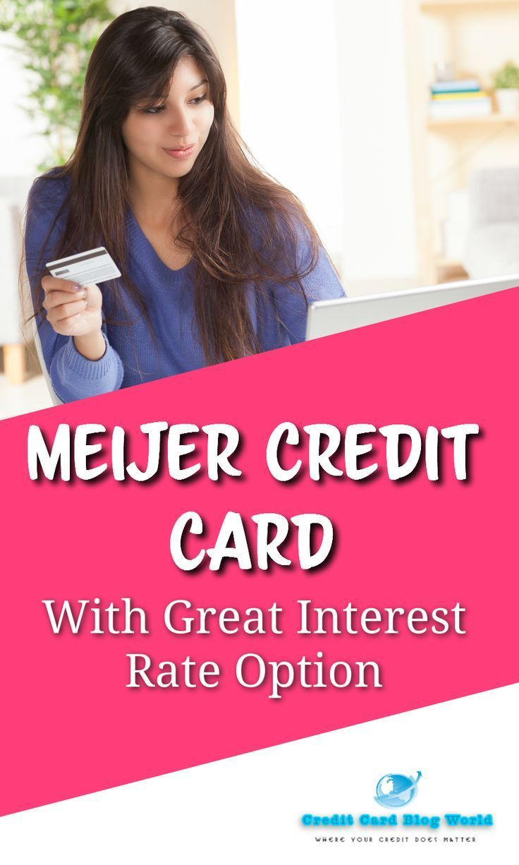 meijer credit card with