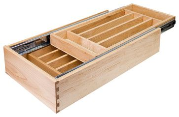 Nested Cutlery Drawer for 18 inch Base Cabinet - traditional - Kitchen Drawer Organizers - Burroughs Hardwoods Inc.