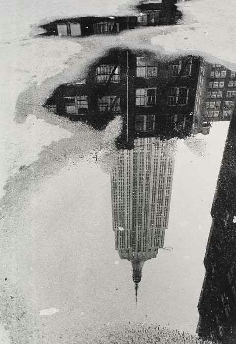 André Kertész, Puddle, Empire State Building, 1967