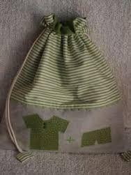 Resultado de imagen para bolsas de tela para guardar ropa de bebe