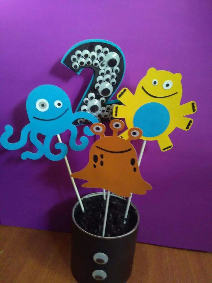 Monster Party Centerpieces