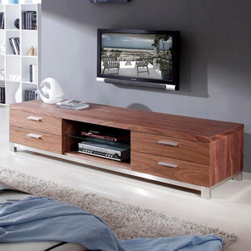 "B Modern Promoter Series 79"" TV Stand in Light Walnut - BM-120-BRN"