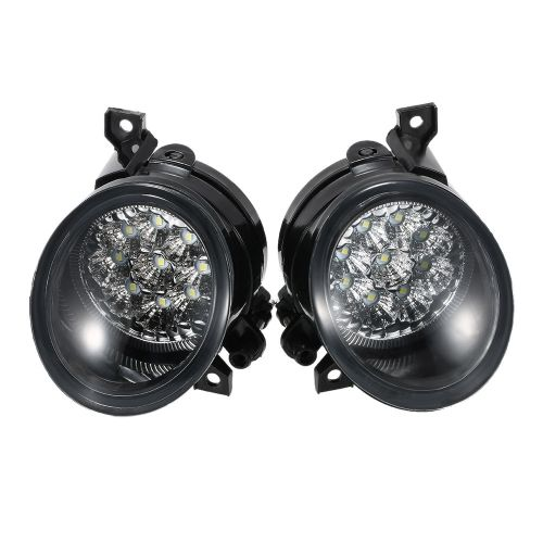 Pair of 9 LED Fog Light Bright White Lamp Left & Right for VW GOLF GTI MK5 JETTA 2005-2009