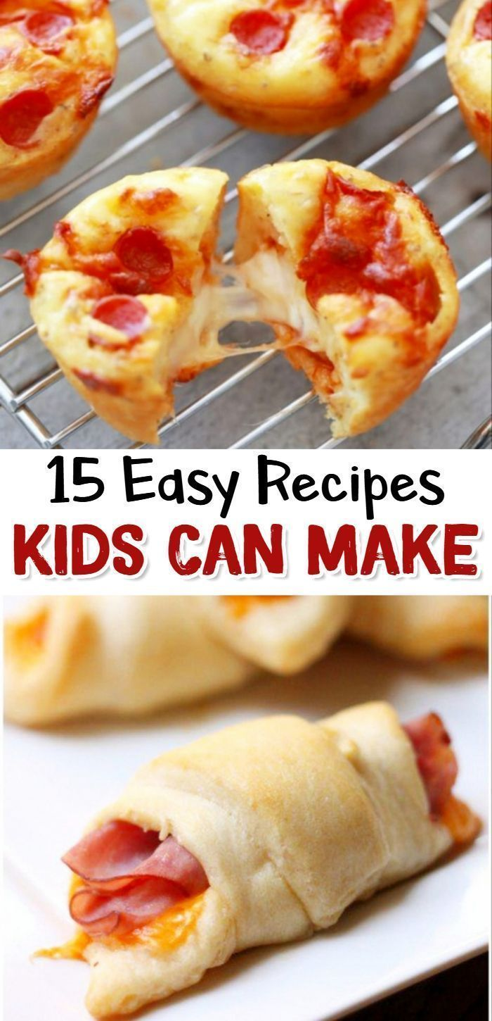 15 Fun Easy Recipes For Kids To Make Clever Diy Ideas Fun Easy Recipes Kids Cooking Recipes Easy Meals For Kids