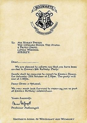 #Harry potter acceptance letter #invitation #personalised,  View more on the LINK: 	http://www.zeppy.io/product/gb/2/271626293656/