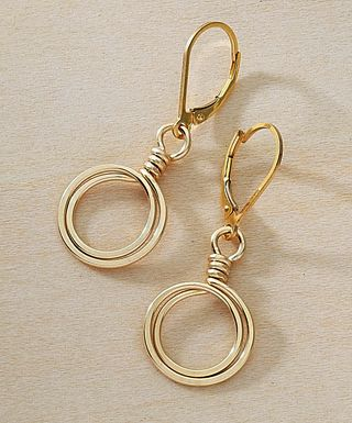 So simple - but perfect earrings for everyday.  Make 'em.