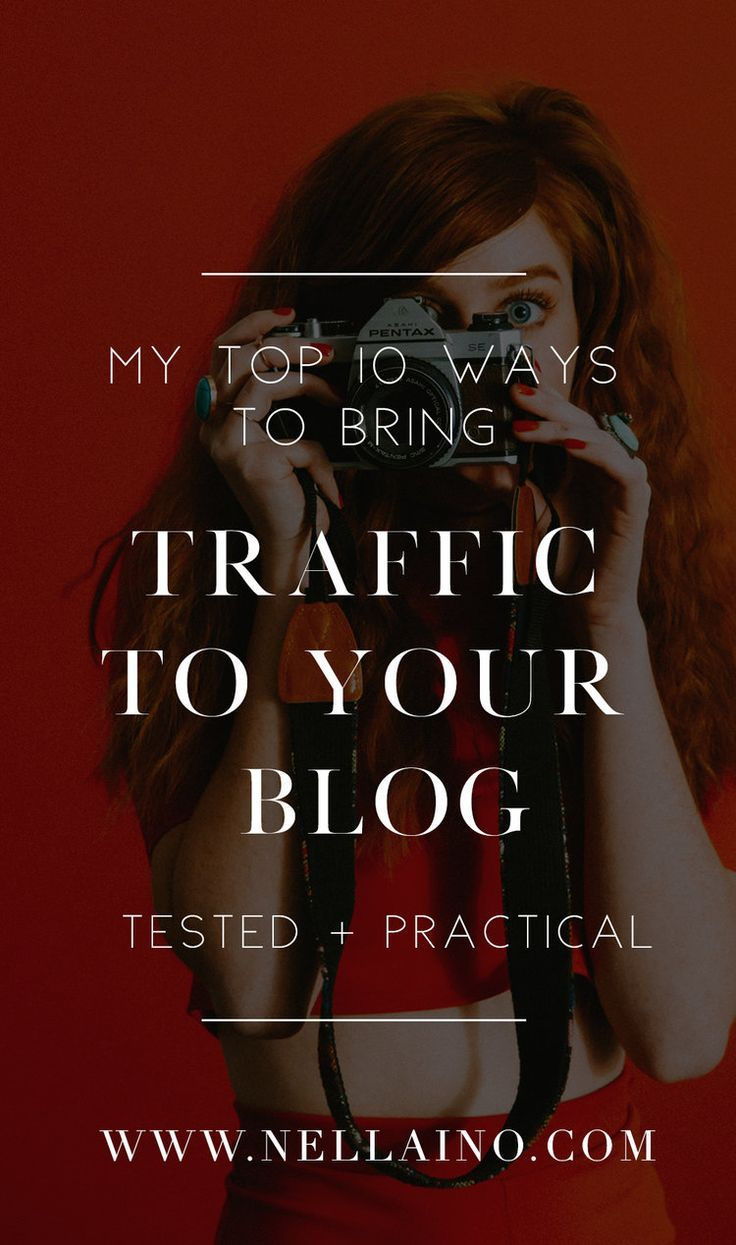 How to bring visitors from Pinterest to your blog. Visit my blog post to read my 10 best tips! www.nellaino.com/blog #pinterestmarketing #pinteresttips #blogging #drivetraffic #socialmediamarketing