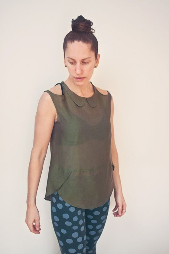 Silk Crescent Blouse by Maryanne Brezovic | Project | Sewing / Shirts, Tanks, & Tops | Kollabora